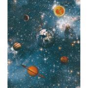 Papel de Parede 53cm x 10m PVC Sublimado Planetas - Jolie