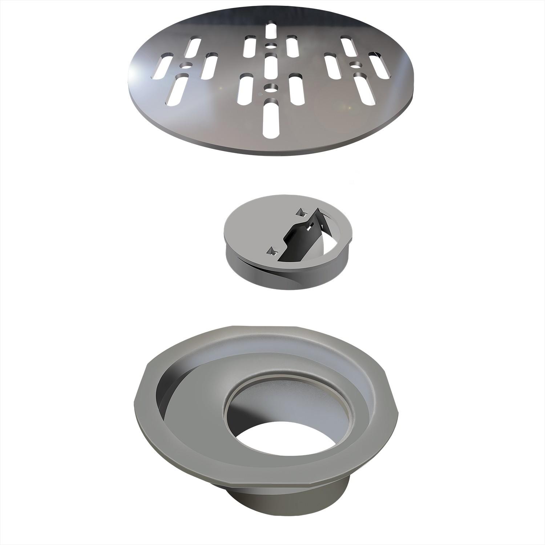 Grelha de Inox PVD Para Esgoto Redonda 10cm 4034 - Ralo Linear