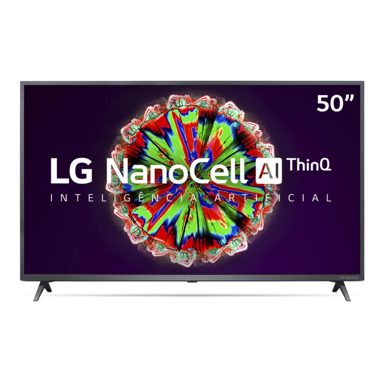 Smart TV LED 50 LG NanoCell 4KUltra HD HDR10 Pro Bluetooth Alexa Google Assistente ThinQ AI 50NANO79SND - Wi-Fi 3 HDMI 2 USB
