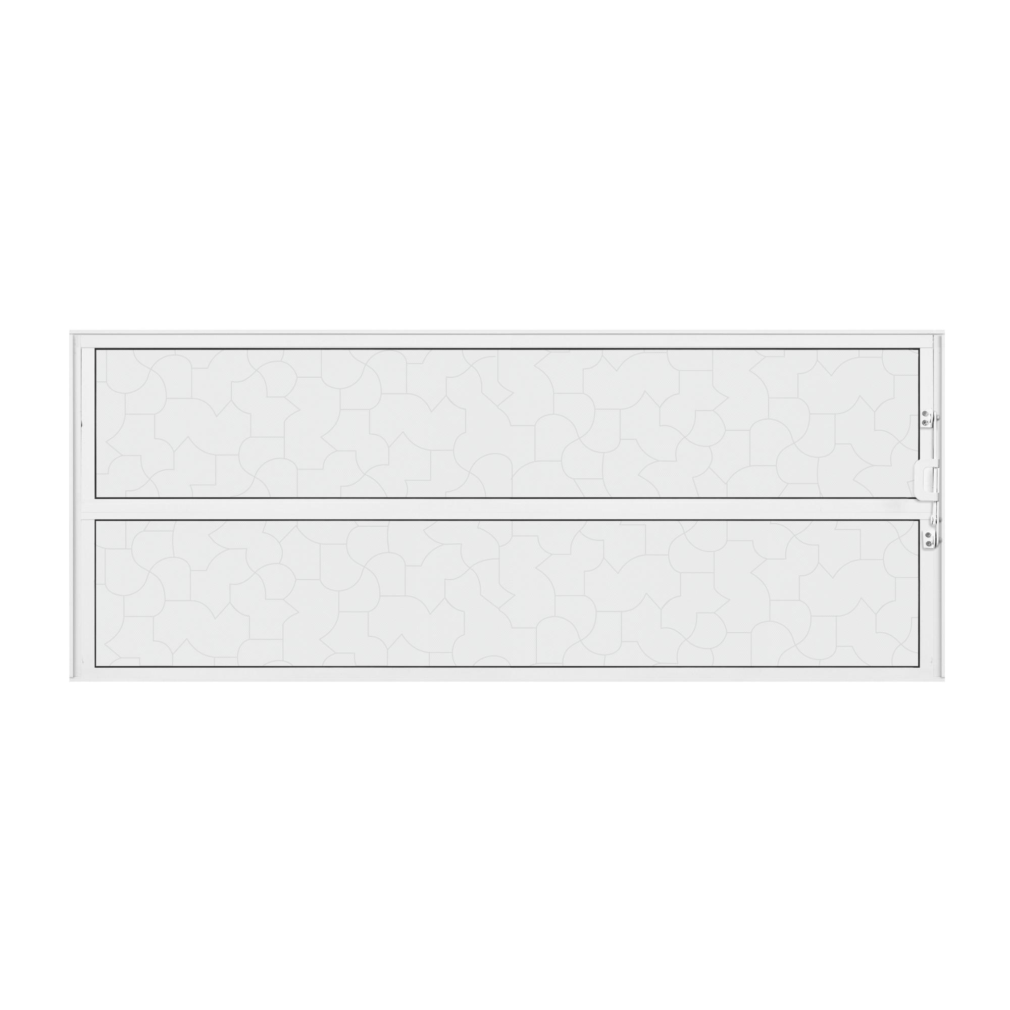 Janela Basculante Aluminio 40x80 cm Branco - Aluvid