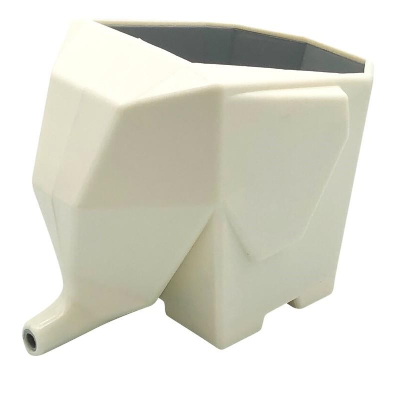 Escorredor para Talheres Elefante de Plastico Branco - Clink
