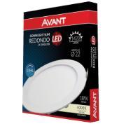 Luminária LED Redonda 18W Embutir 4000K - Avant