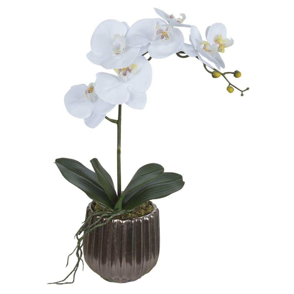 Arranjo Orquidea com Vaso de Bronze 50cm - Dea