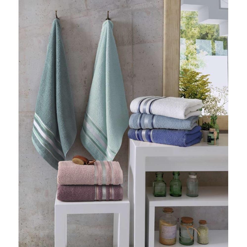 Toalha de Banho Prata 100 Algodao 70 x 135 cm Uva - Santista