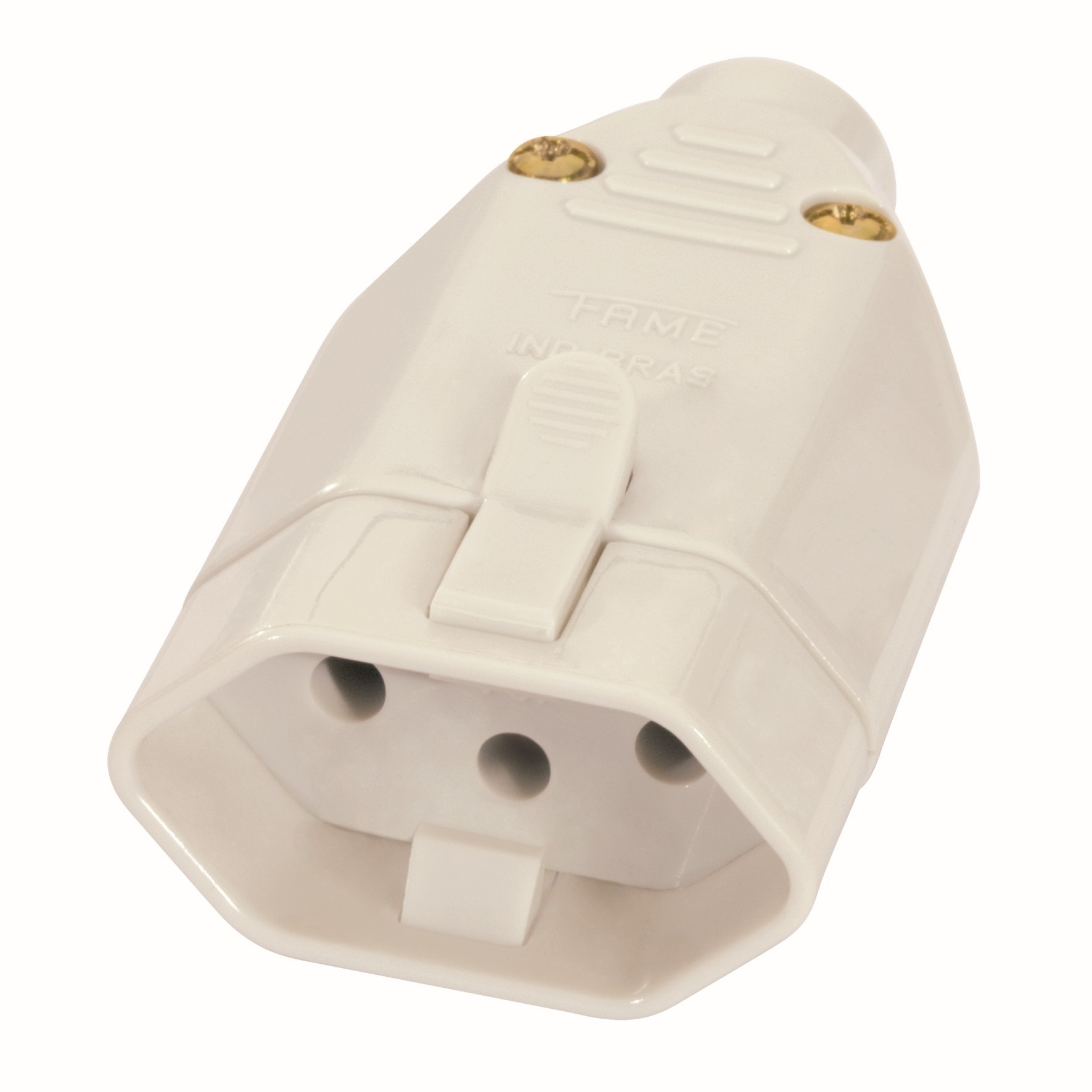 Plug Femea 2PT 10A Cinza - Fame Eletrica