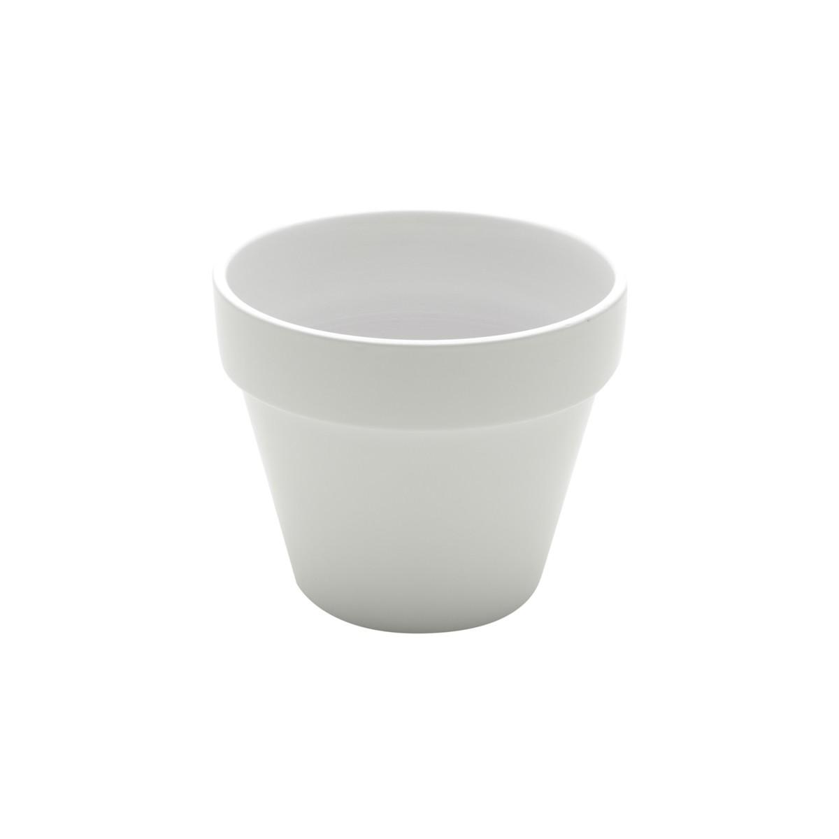 Vaso Decorativo de Ceramica Redondo Branco - Urban