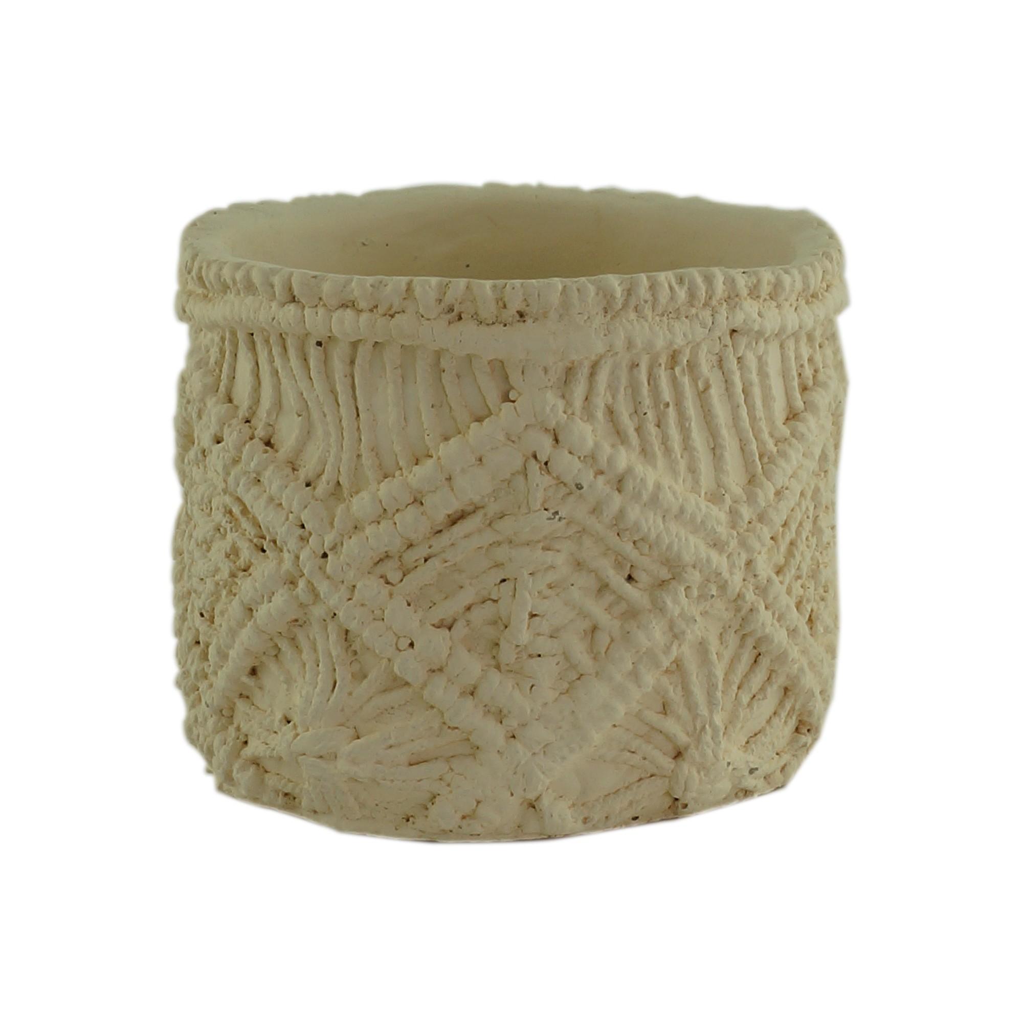 Vaso Decorativo de Concreto Redondo 10 cm - Urban