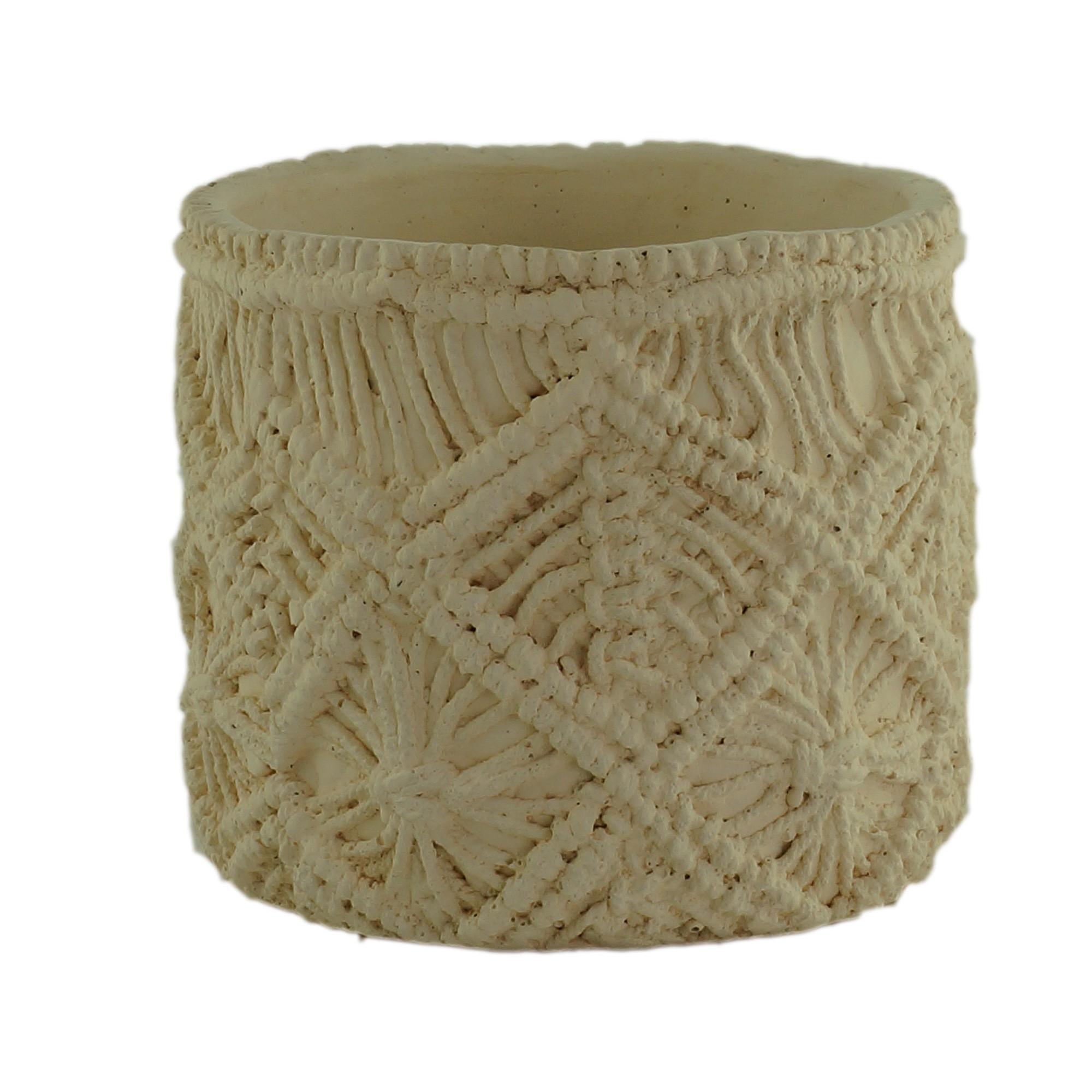 Vaso Decorativo de Concreto Redondo 12 cm - Urban