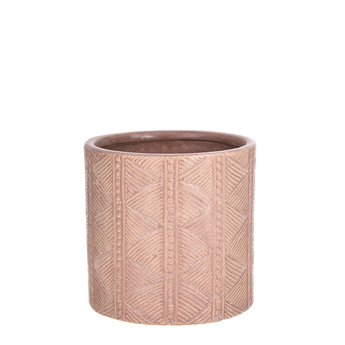 Vaso Decorativo de Ceramica Redondo Bali 13cm Terracota