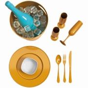 Champanheira de Plástico 7L Dourado Glitter - Coza