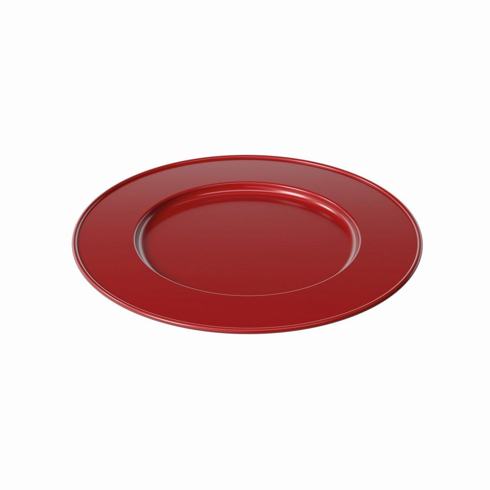 Sousplat Redondo Plastico 315cm Vermelho Perolizado - Coza