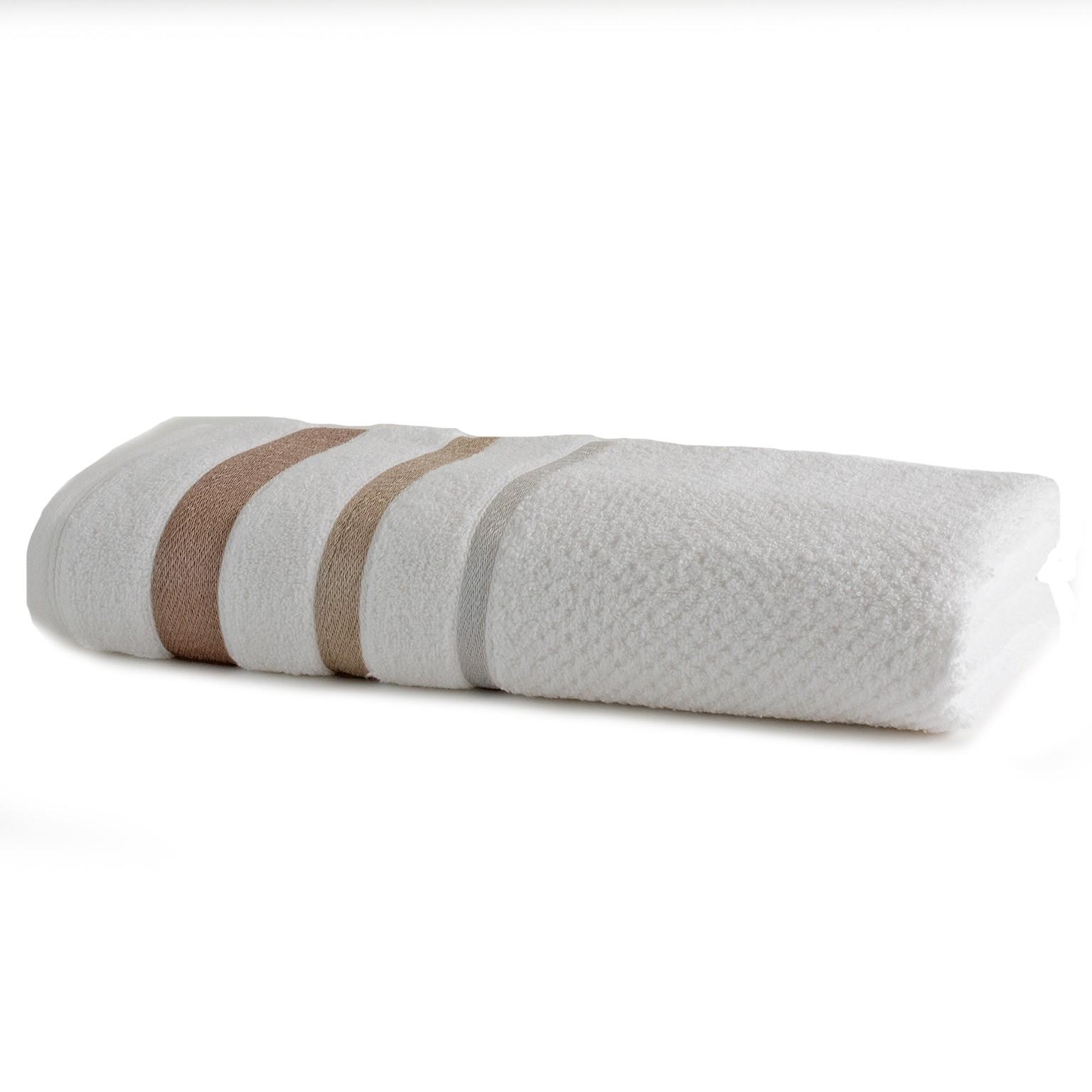 Toalha de Rosto Platinum 100 Algodao 50x70 cm Branco - Santista