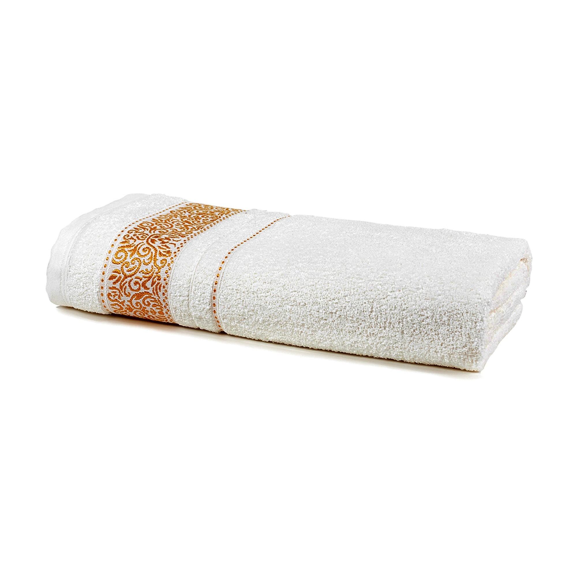 Toalha de Rosto Unique 100 Algodao 50x70 cm Branco - Santista
