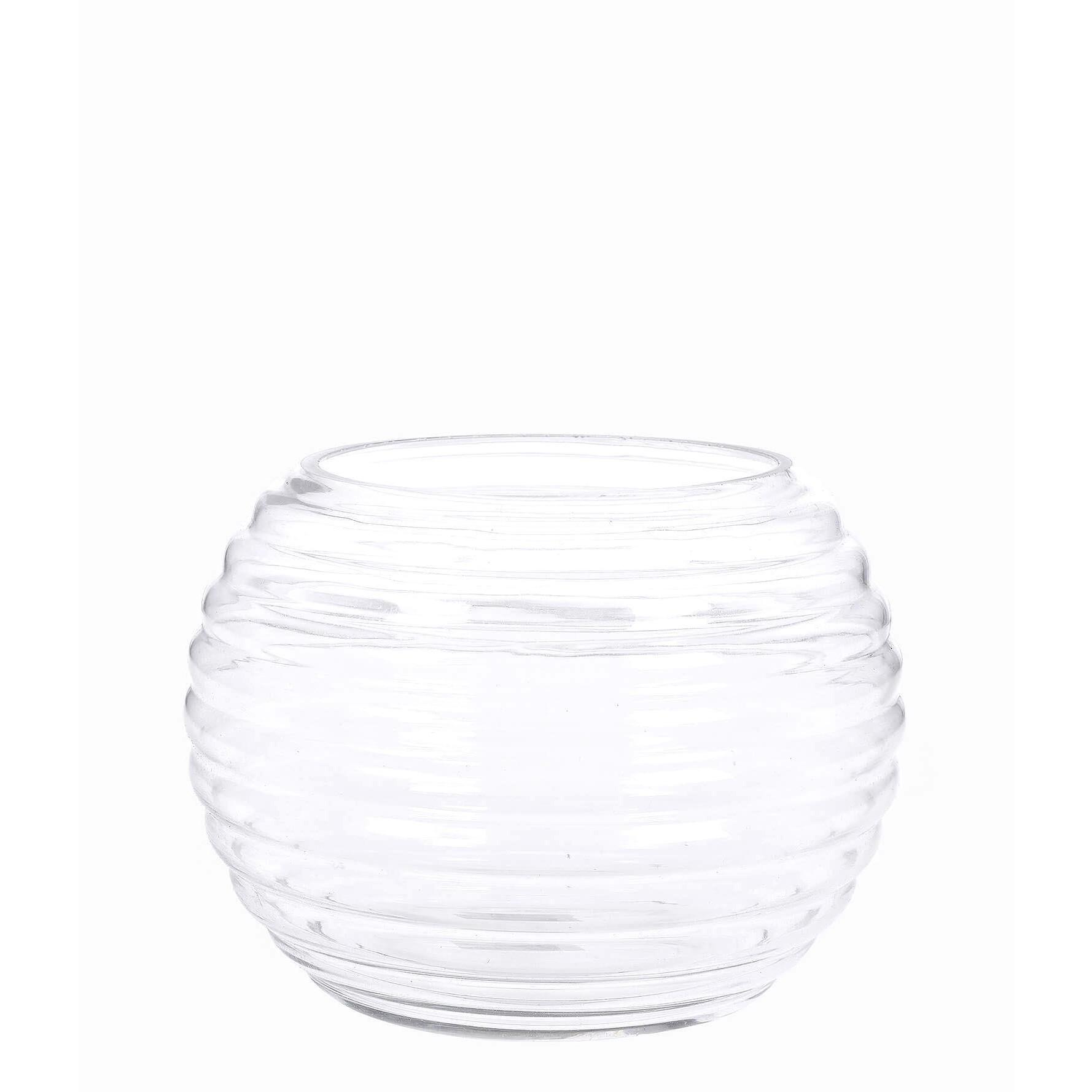 Vaso Decorativo de Vidro Aquario 12cm Transparente