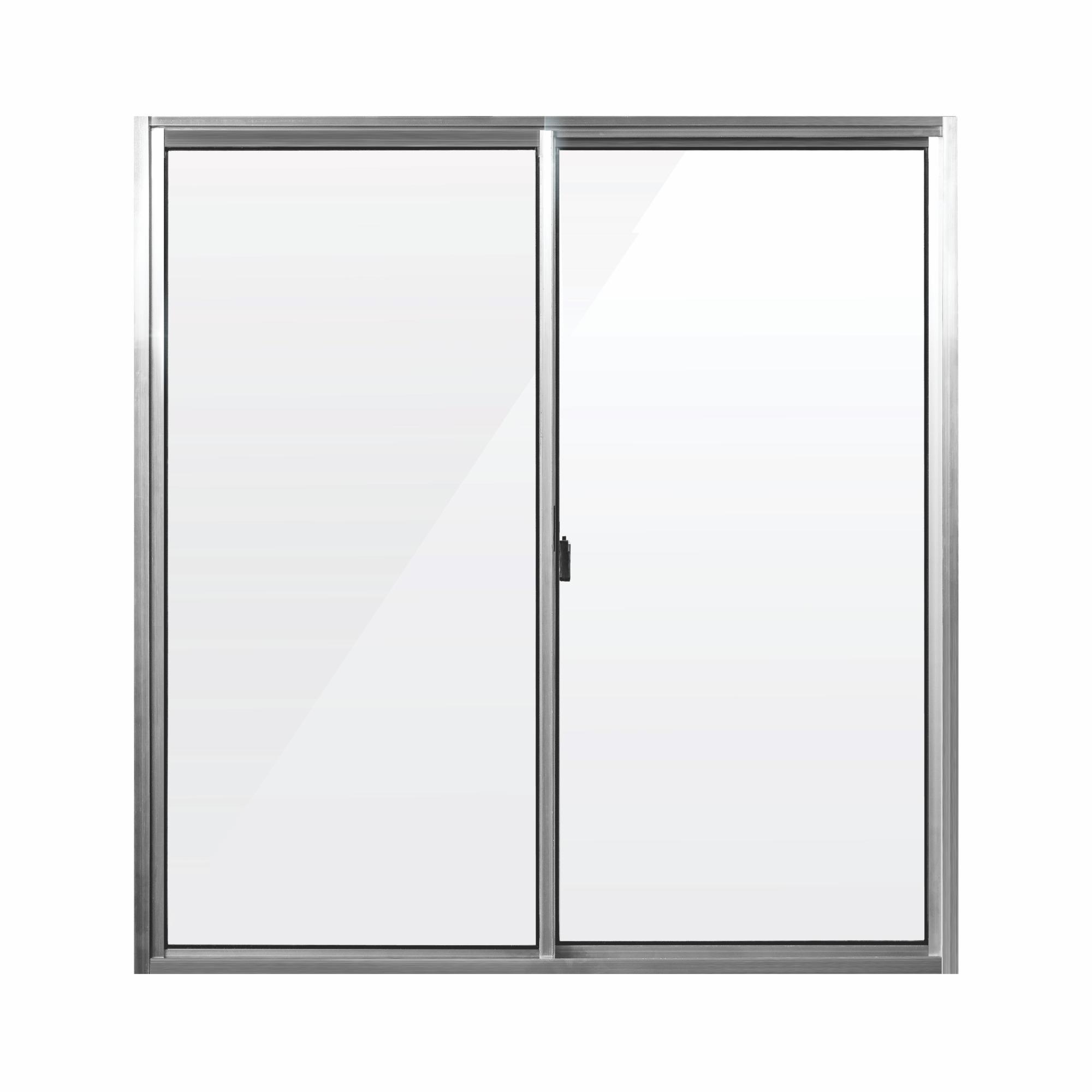 Janela de Correr de Aluminio 2 Folhas Vidro Liso 80x80 cm - Aluvid