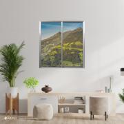 Janela de Correr de Alumínio 2 Folhas Vidro Liso 80x80 cm - Aluvid