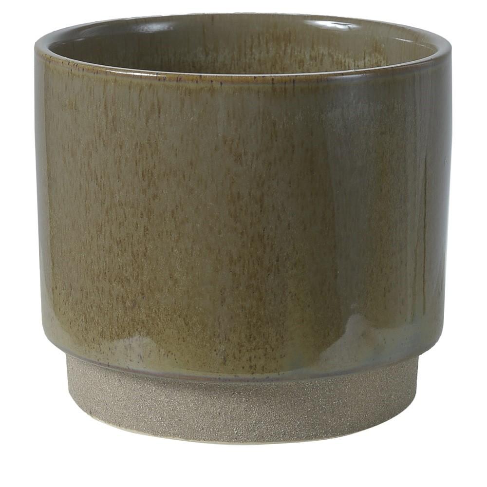 Vaso Decorativo de Ceramica Redondo Verde - Dea