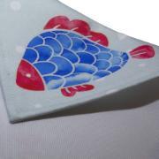 Pano Americano Retangular 45x35 cm Peixes - Bizarro