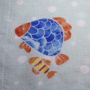 Guardanapo de Tecido Peixe 48x48 cm - Bizarro