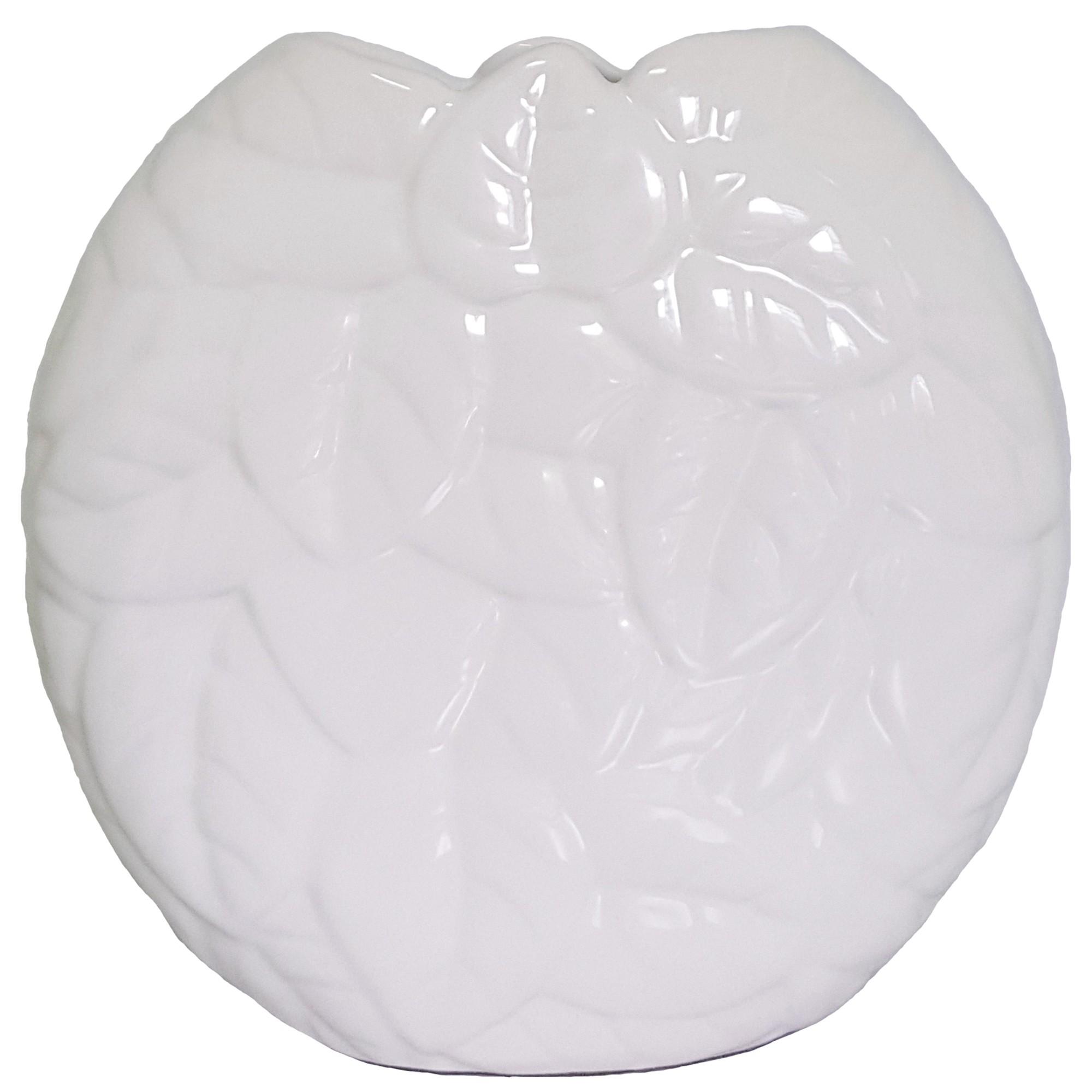 Vaso Decorativo de Ceramica Chaton Folhas 26 cm 89504 - Buzzio s