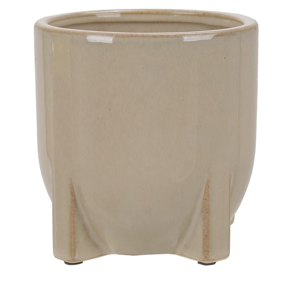 Vaso Decorativo em Ceramica Redondo 12 cm Fendi 5005 - Dea