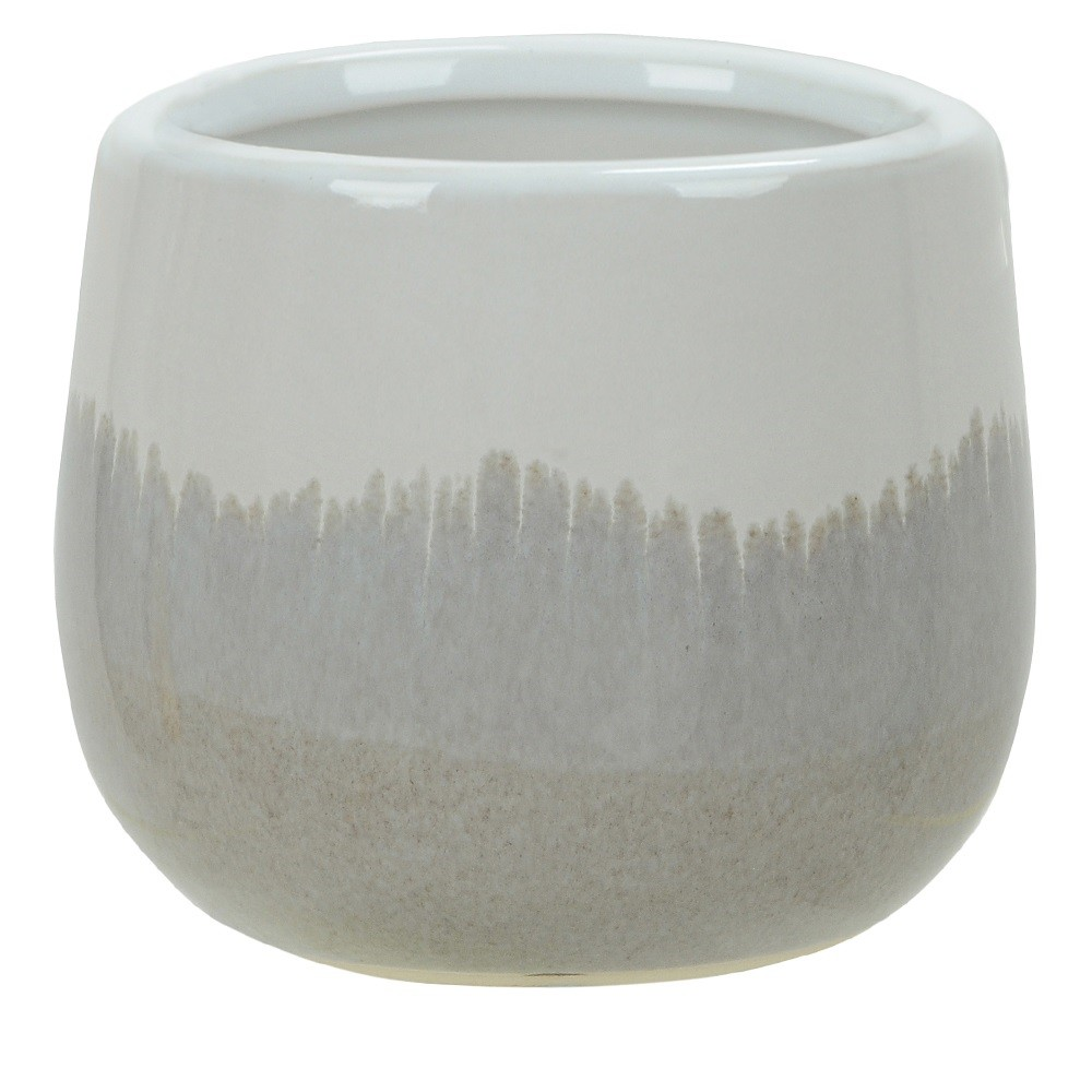 Vaso Decorativo em Ceramica Redondo 11 cm Branco Fendi - Dea