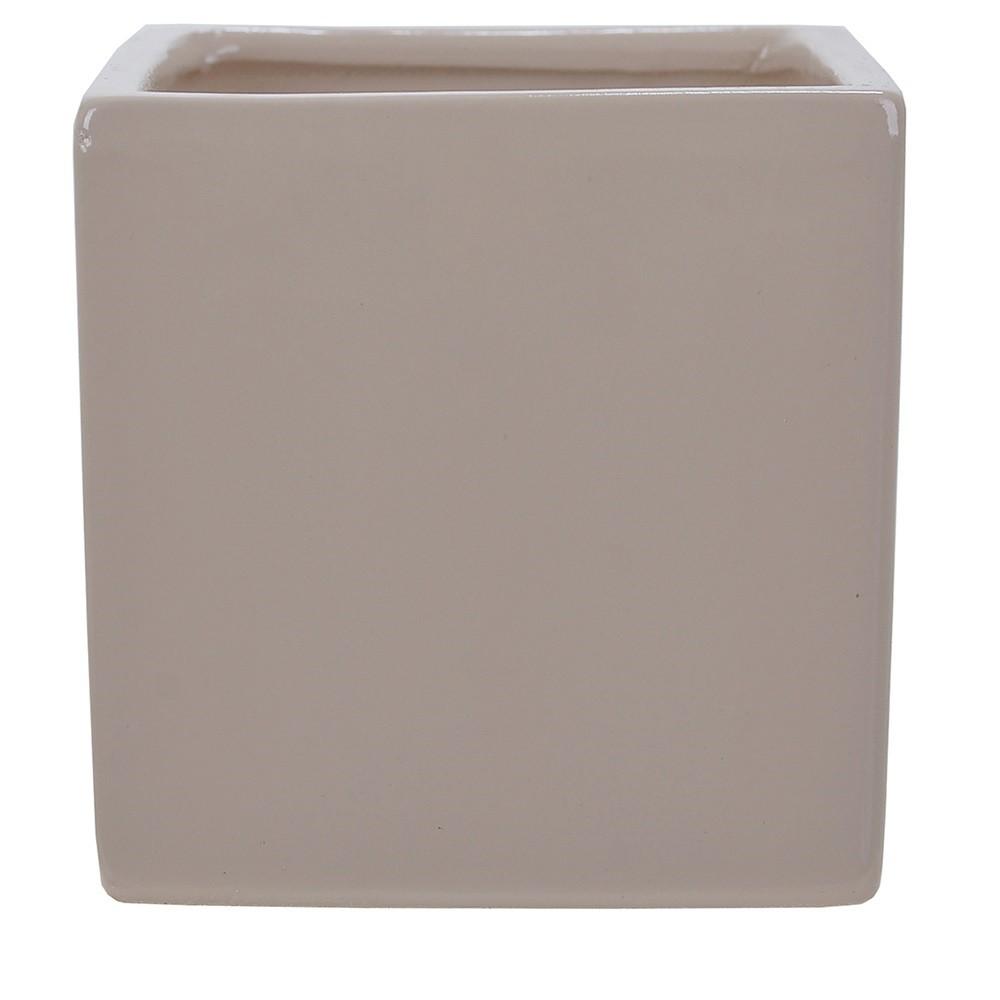 Vaso Decorativo em Ceramica Quadrado 10 cm Fendi 5003 - Dea
