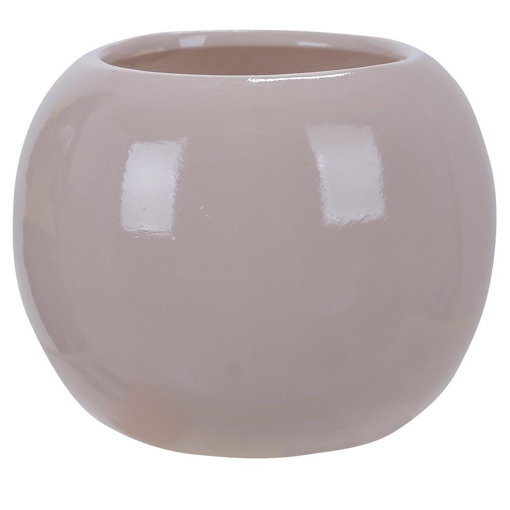 Vaso Decorativo em Ceramica Redondo 7 cm Fendi 003 - Dea