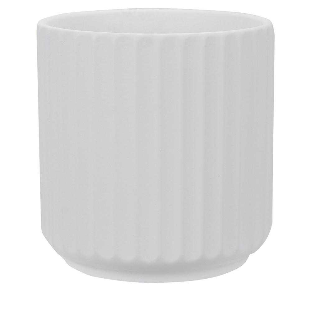 Vaso Decorativo em Ceramica Redondo 10 cm Branco Fosco 9001 - Dea