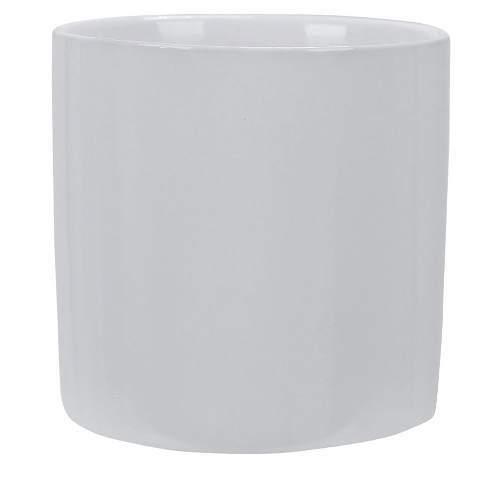 Vaso Decorativo em Ceramica Redondo 105 cm Branco - Dea