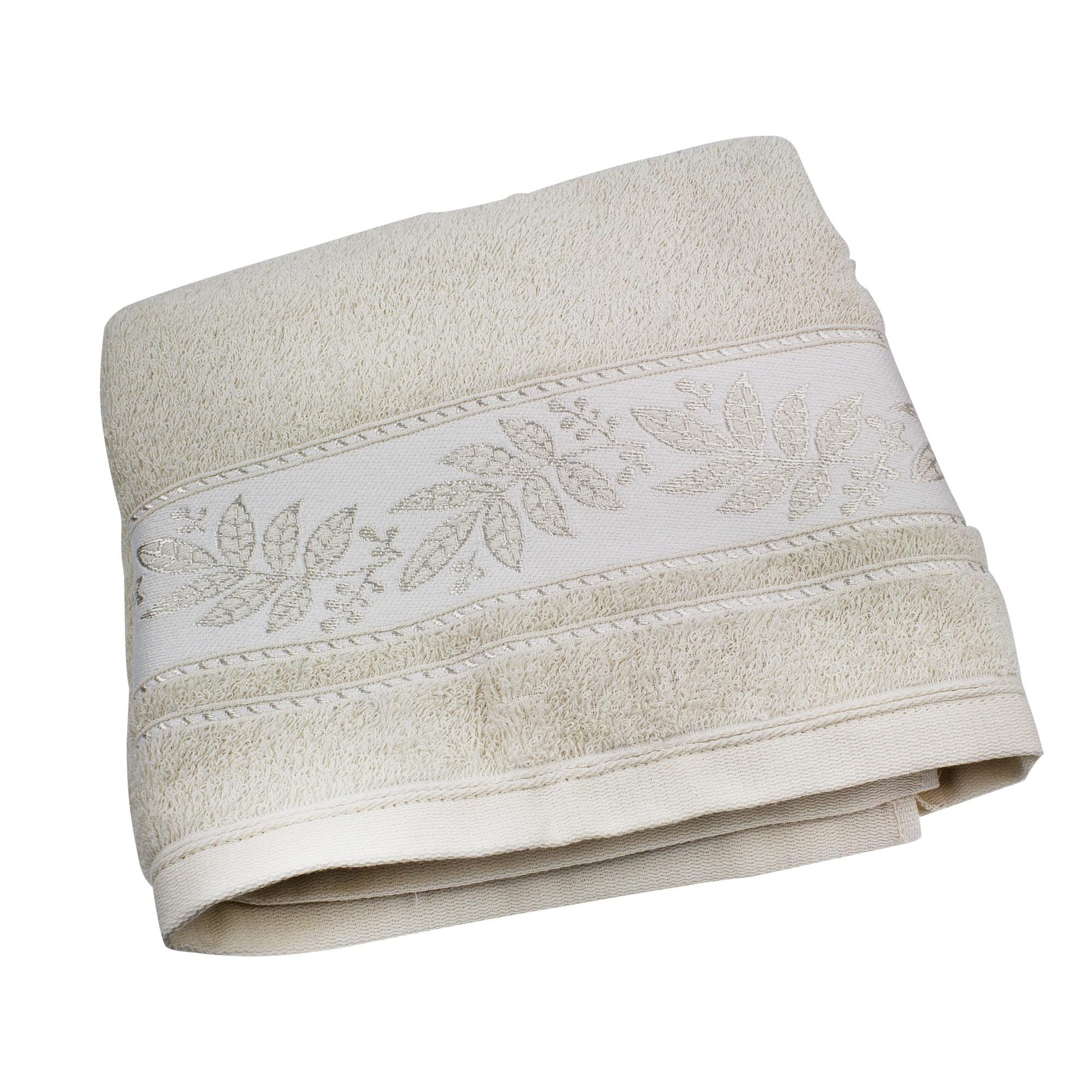 Toalha de Banho Prata 100 Algodao 70 x 135 cm Bege - Santista