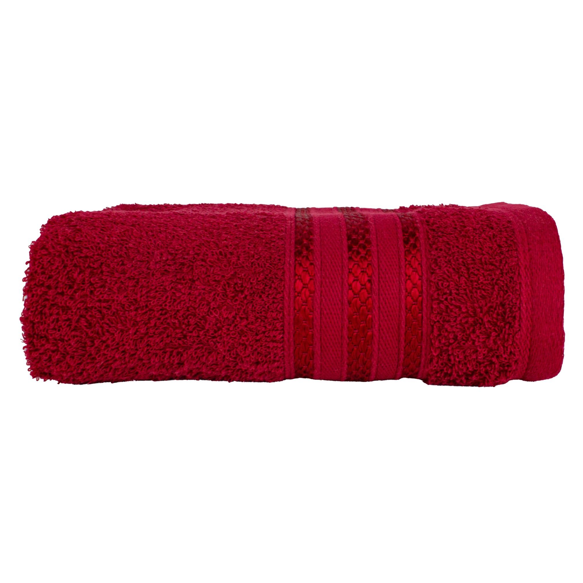 Toalha de Banho Royal 100 Algodao 70x130 cm Vermelha - Santista