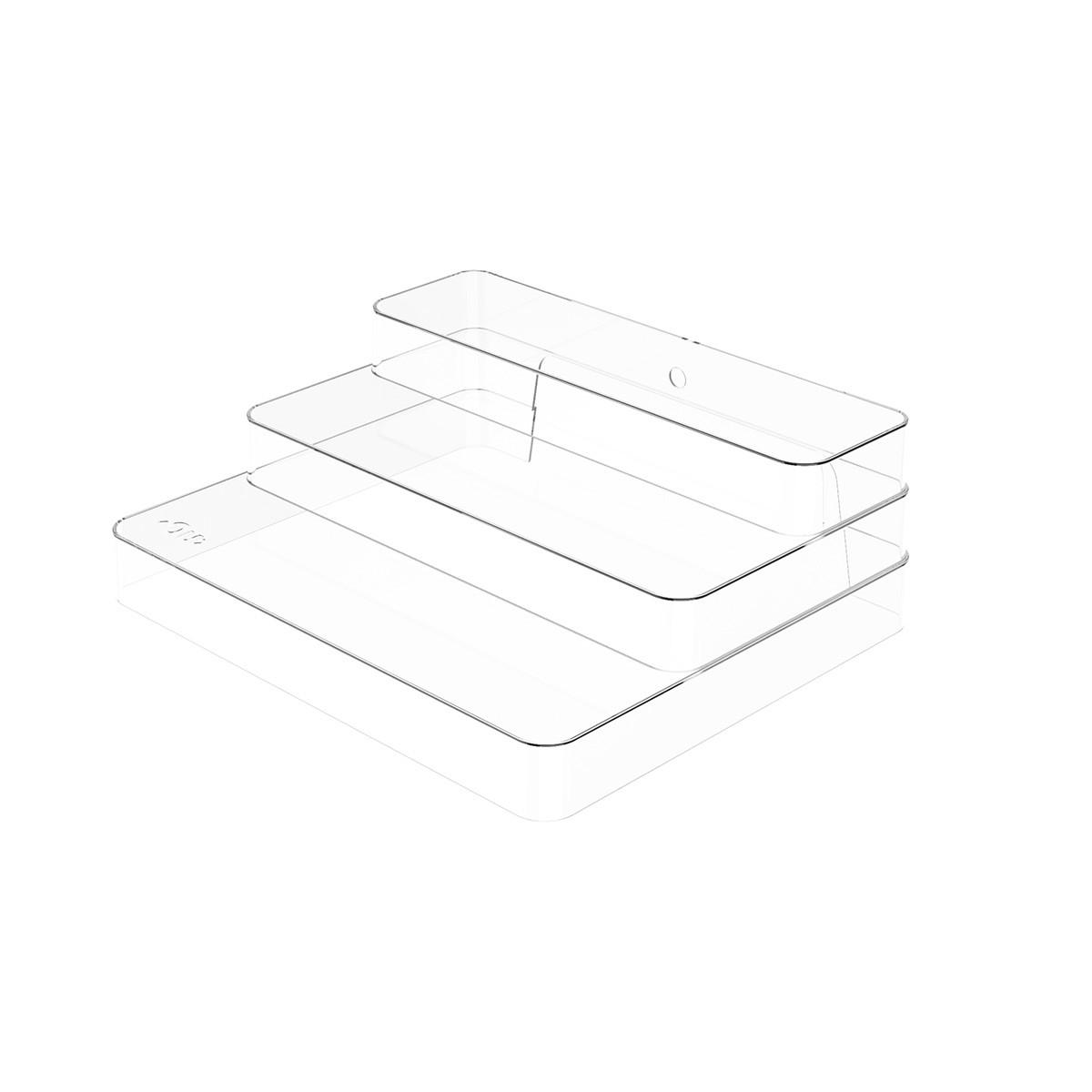 Organizador Multinivel Clear 25x29 cm Transparente - Ou