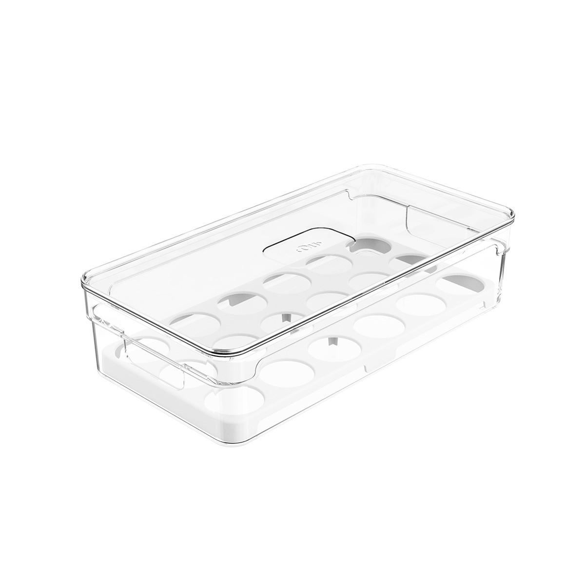 Organizador de Ovos Clear 30x15x7 cm Transparente - Ou