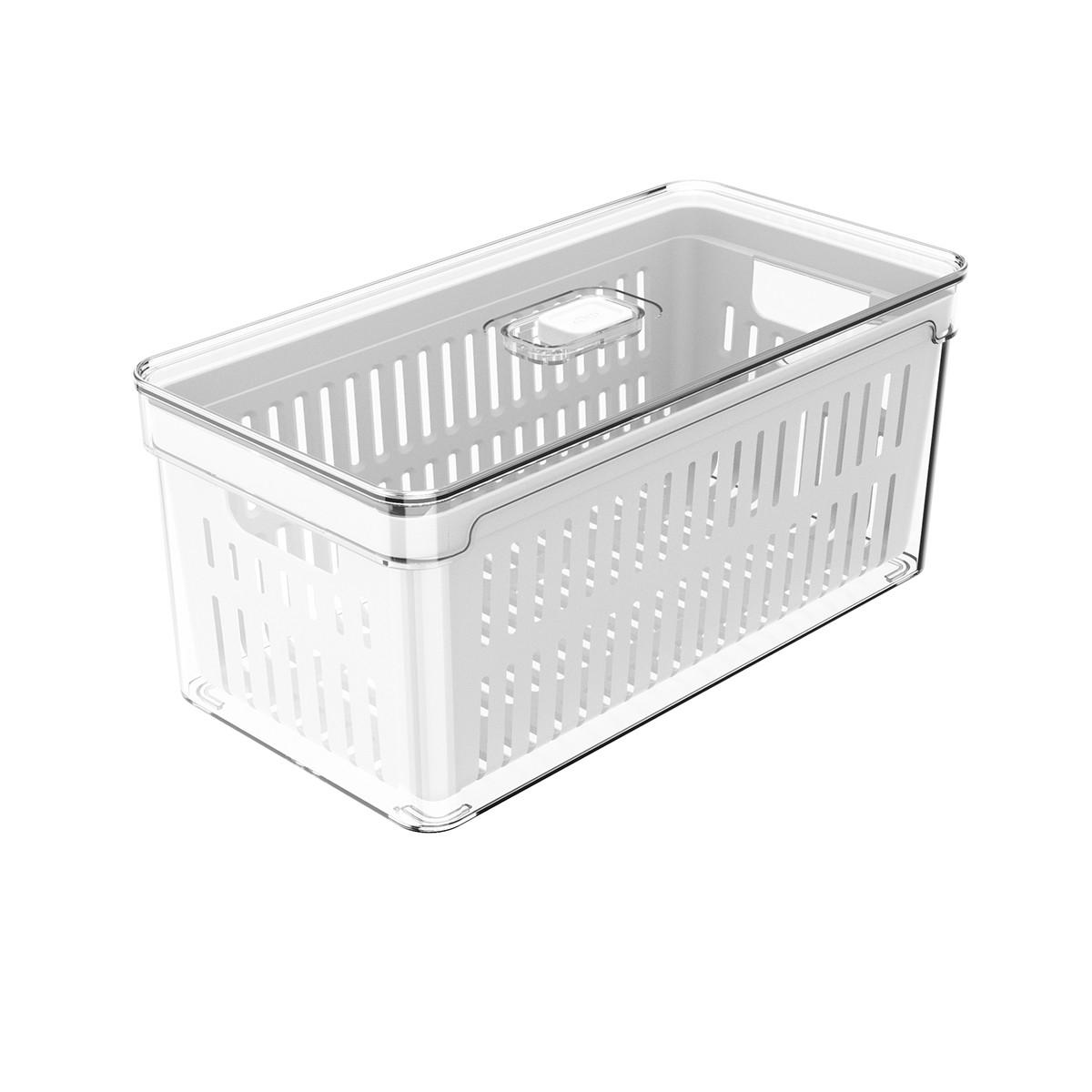 Organizador Clear com Cesto 30x15x13 cm Transparente - Ou