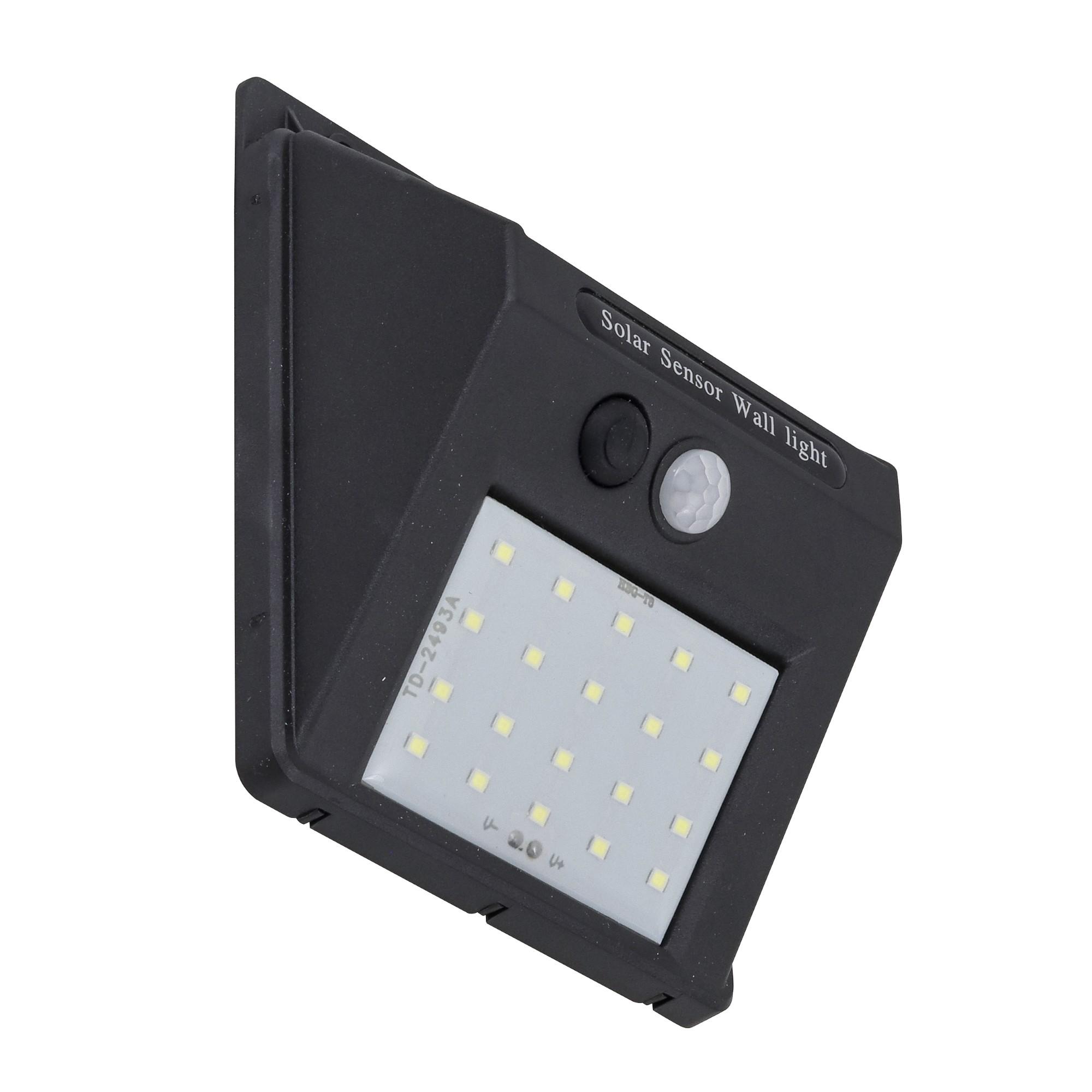 Luminaria LED Solar Triangular de Sobrepor 4W Plastico ABS Luz Amarela - Gaya