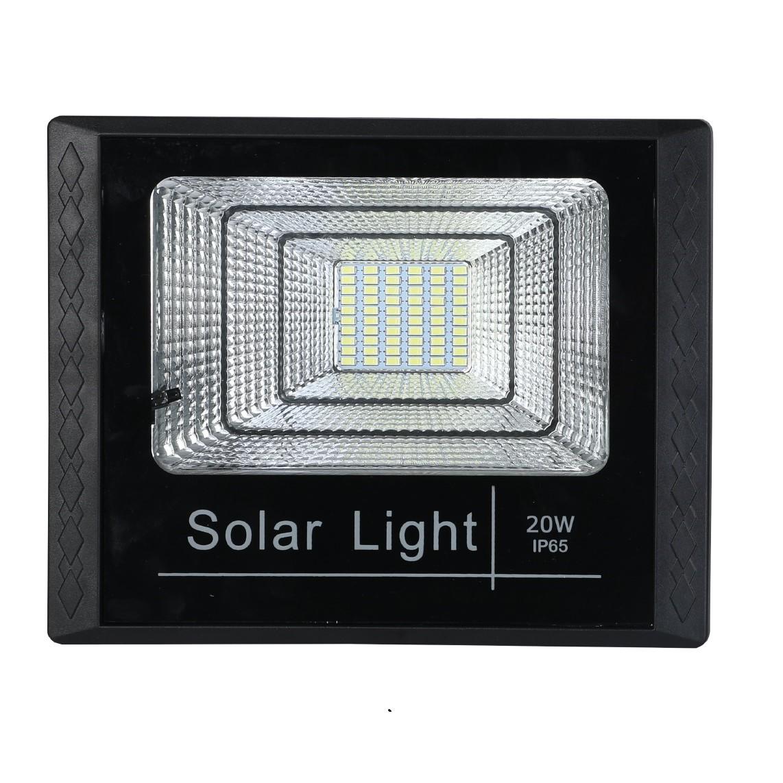 Refletor Solar LED 20W Luz Branca Plastico ABS Preto - Gaya