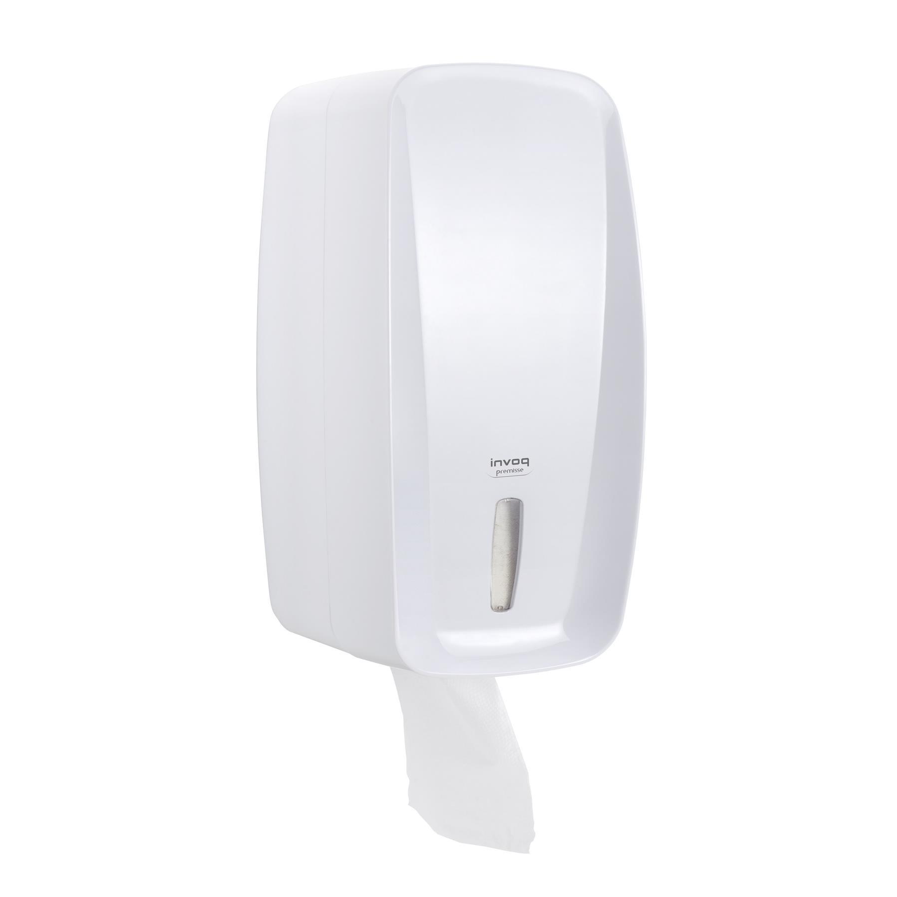 Toalheiro para Papel Higienico ou Interfolhado Tipo Cai Cai 750 Folhas Branco - Premisse