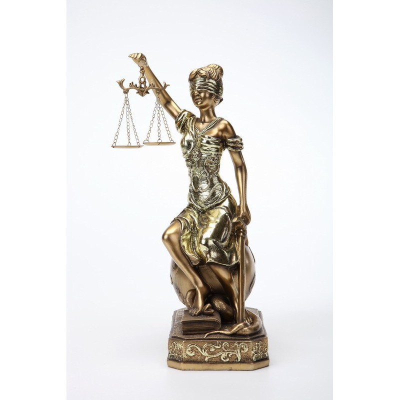 Enfeite Decorativo Deusa da Justica 18cm - Bras Continental