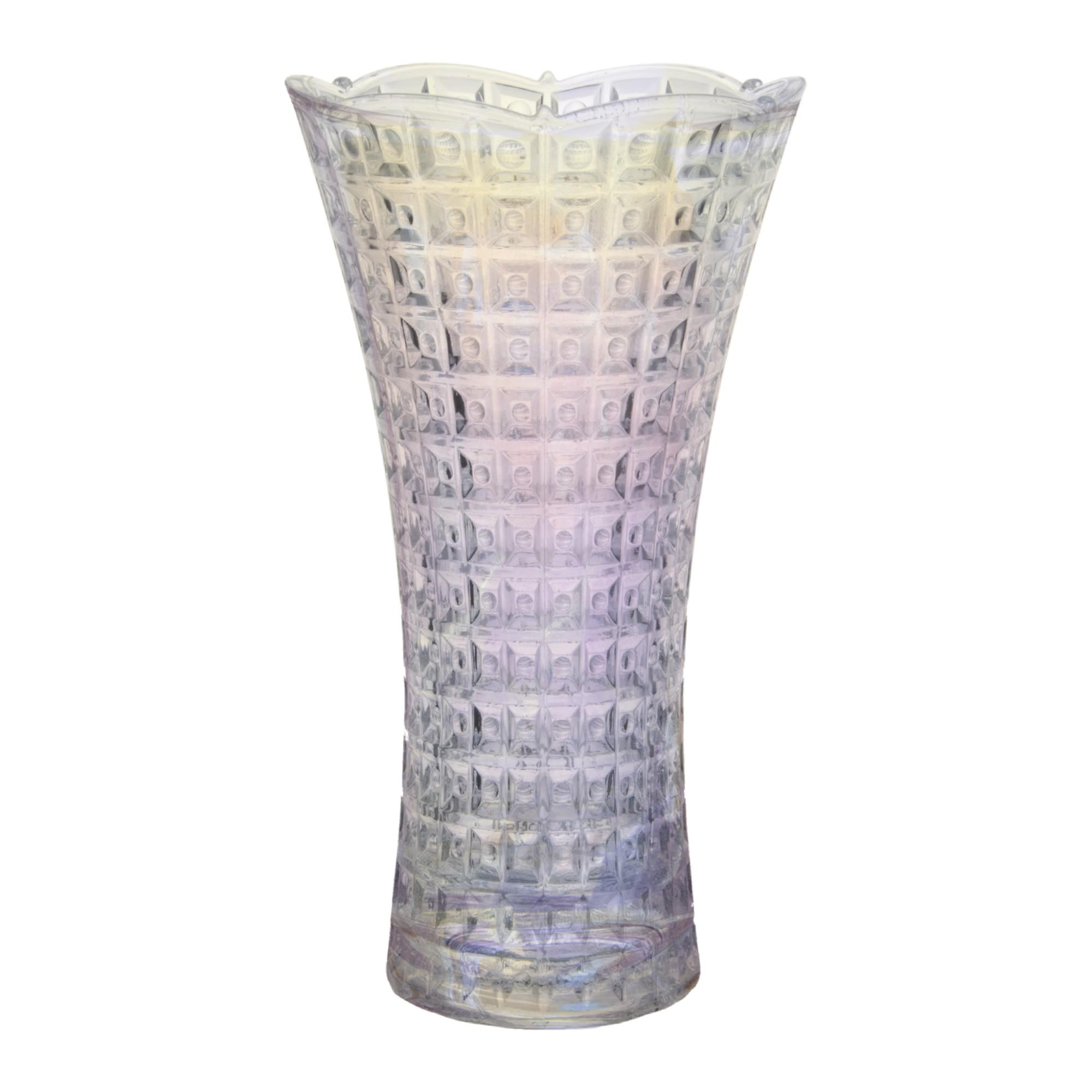 Vaso Floreiro Chevalier Acinturado 23cm Transparente 26146 - Full Fit