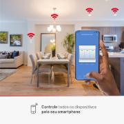 Conjunto Interruptor Inteligente Wi-Fi Smart Plug 3 módulos 10A - Lis