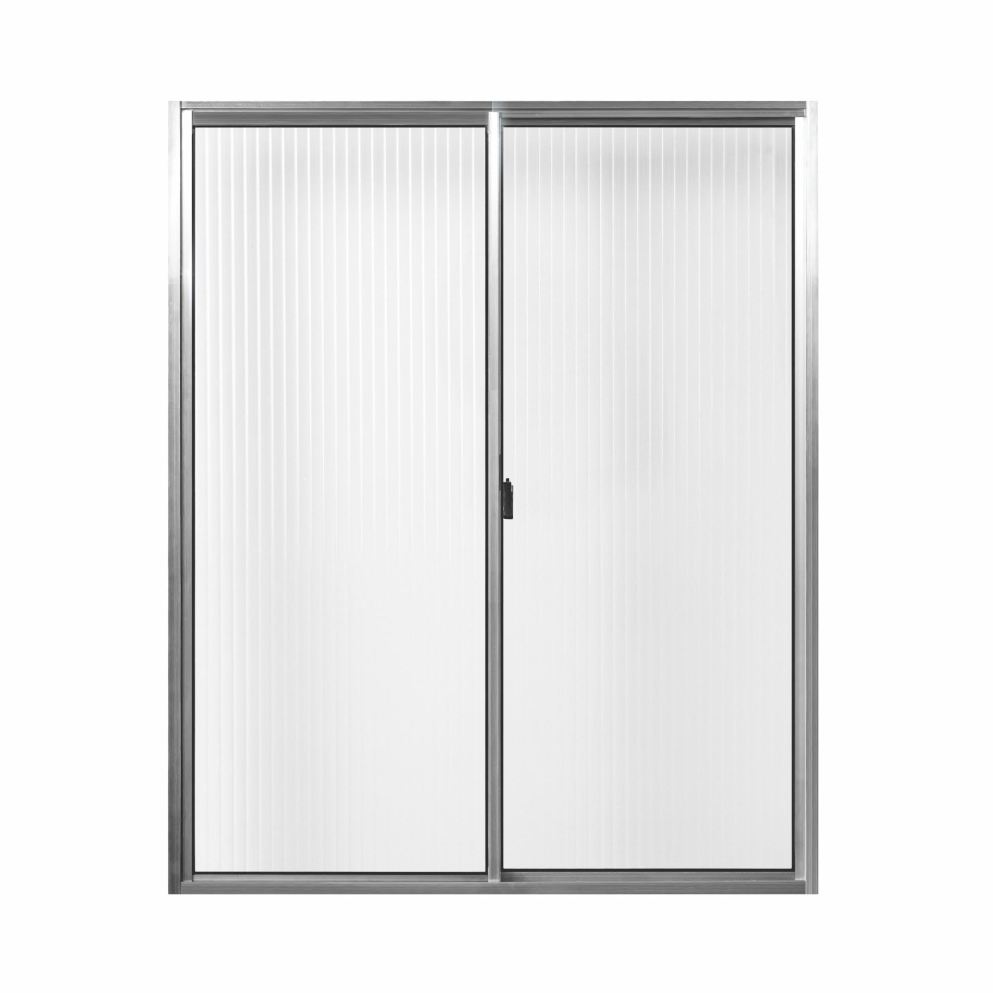 Janela de Correr de Aluminio Vidro Canelado 2 Folhas 100x80 cm - Aluvid
