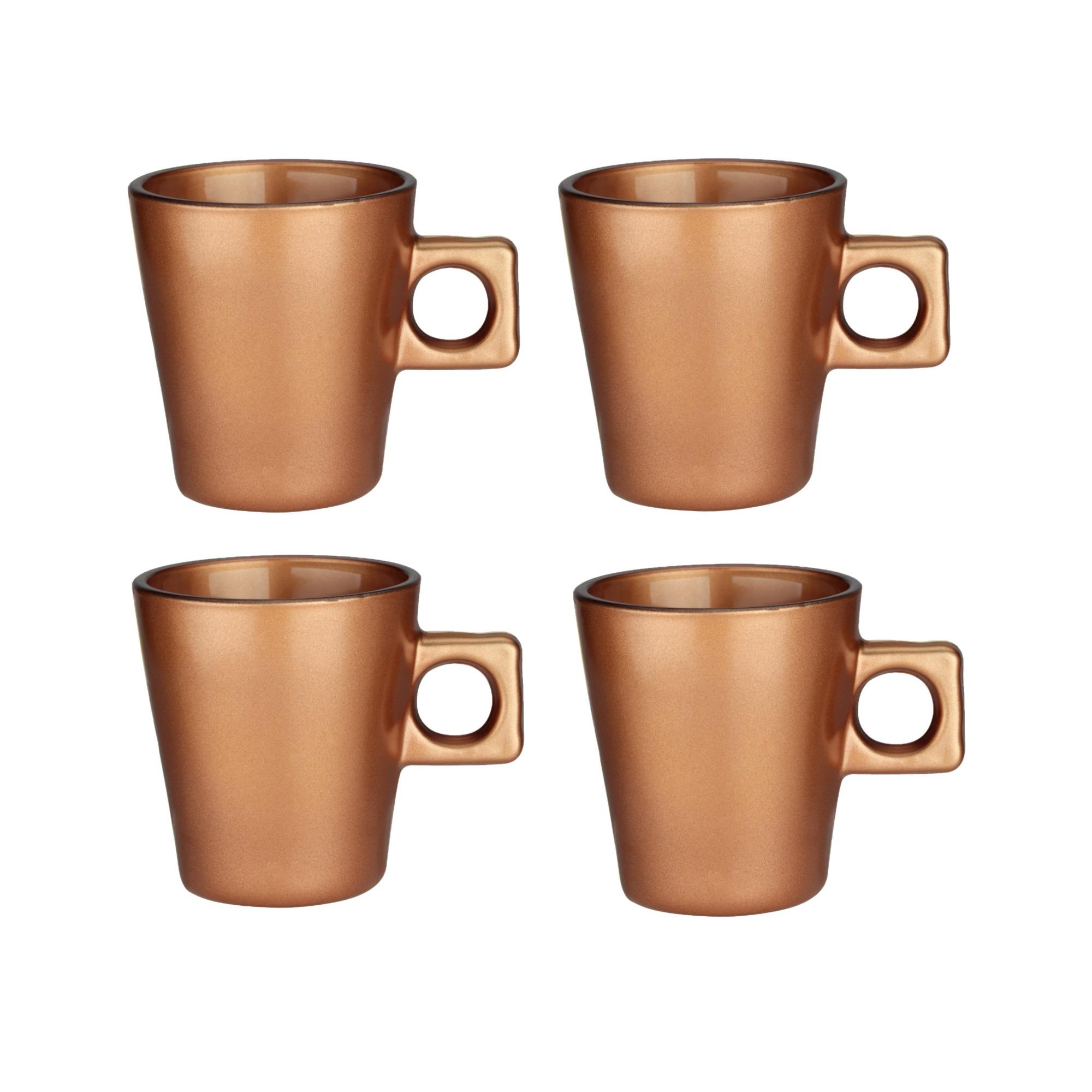 Jogo de Xicaras Plain Coffee de Vidro 80 ml 04 Pecas - Full Fit