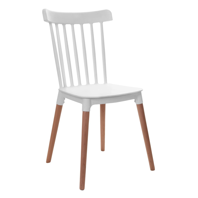 Cadeira de Aproximacao Branca Windson Pes de Madeira - Garden