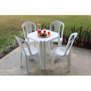 Conjunto de Mesa Tambaú Tramontina com 4 Cadeiras Bistrô de Plástico