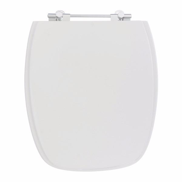 Assento Sanitario Quadrado MDF Stylus Branco 602 - Sicmol