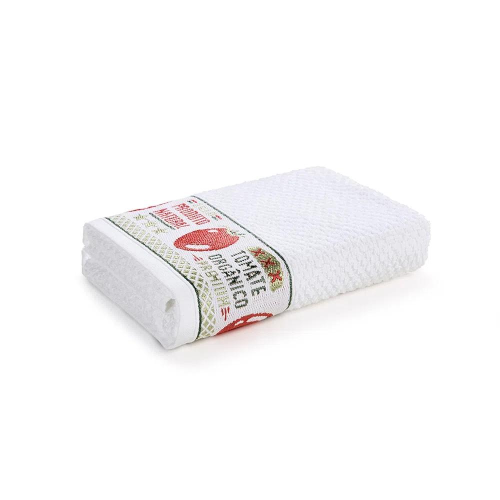 Pano de Copa Branco Tomates 45x65 cm - Karsten