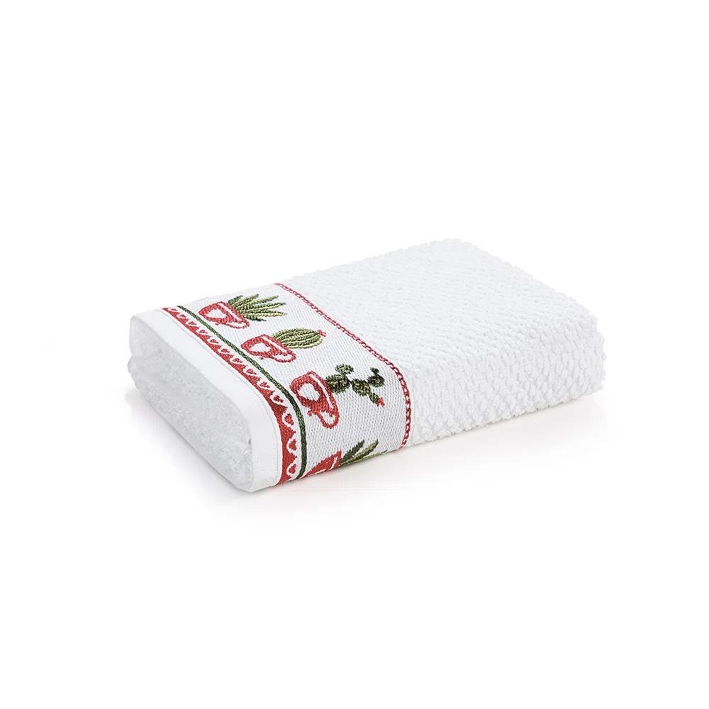 Pano de Copa Branco Suculentas 45x65 cm - Karsten