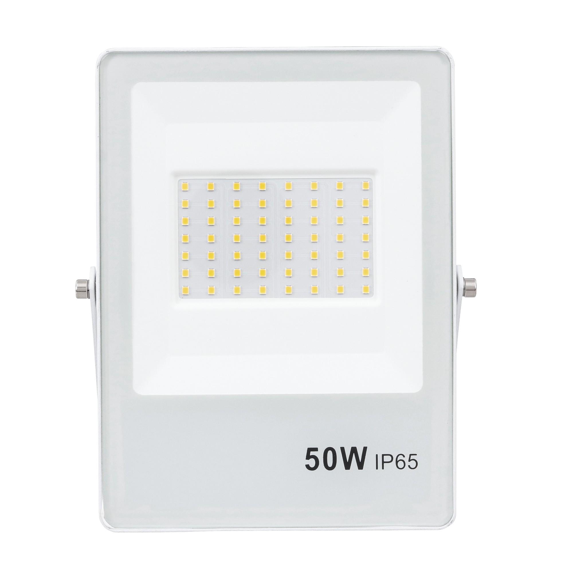 Refletor LED Ultrafino Luz Branca 50W Branco - Gaya