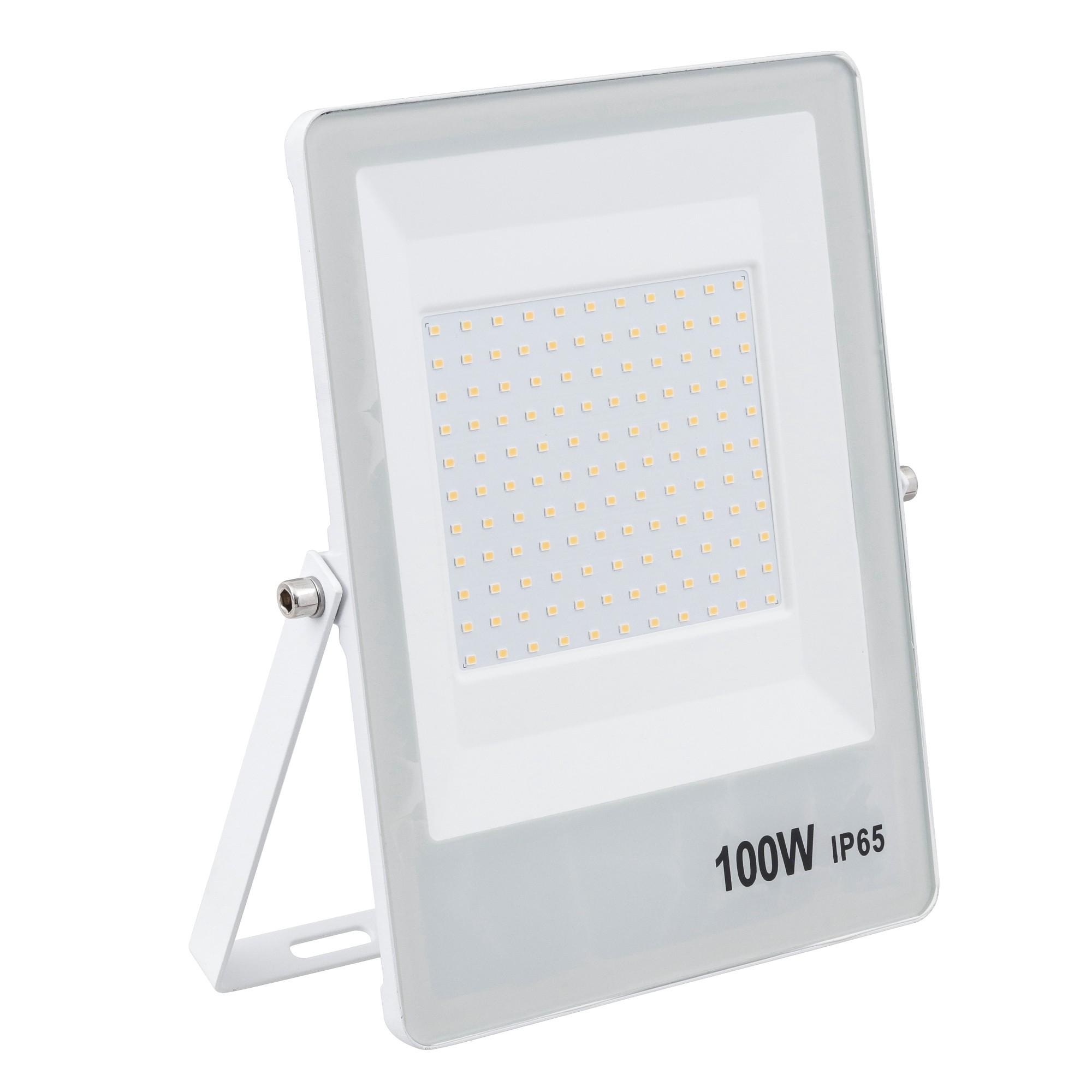 Refletor LED Ultrafino Luz Branca 100W Branco - Gaya